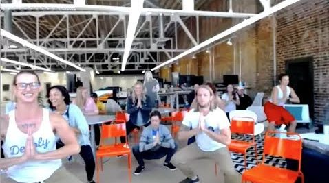 Teaching Office Yoga at a Company